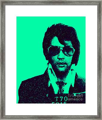 Mugshot Elvis Presley P128 Framed Print by Wingsdomain Art and Photography