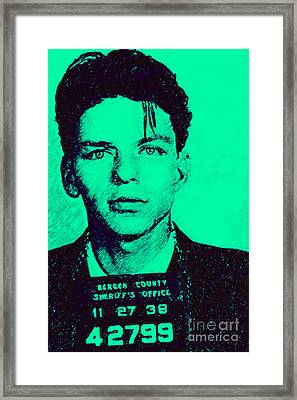 Mugshot Frank Sinatra V1m128 Framed Print by Wingsdomain Art and Photography
