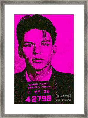 Mugshot Frank Sinatra V1m80 Framed Print by Wingsdomain Art and Photography