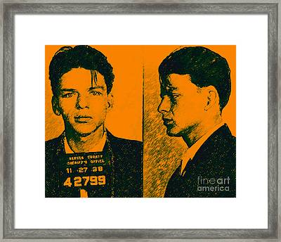 Mugshot Frank Sinatra V2p0 Framed Print by Wingsdomain Art and Photography
