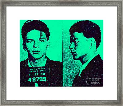 Mugshot Frank Sinatra V2p128 Framed Print by Wingsdomain Art and Photography