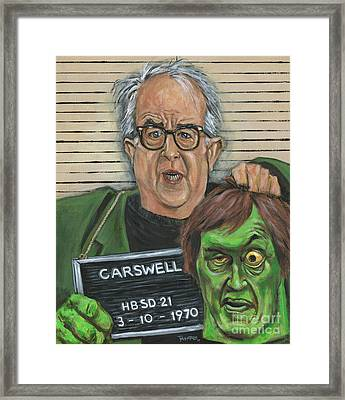 Mugshot Of Mr. Carswell Aka The Creeper Framed Print