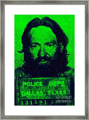 Mugshot Willie Nelson P88 Framed Print by Wingsdomain Art and Photography