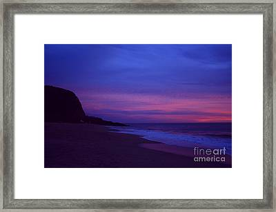 Framed Print featuring the photograph Mugu Rock Jan. 2010 by Ian Donley