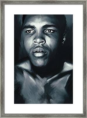 Muhammad Ali Boxing Artwork Framed Print by Sheraz A