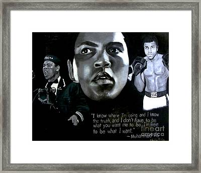 Muhammad Ali Framed Print by Chelle Brantley