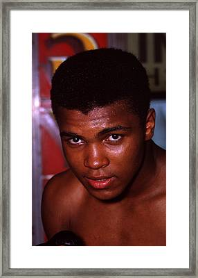 Muhammad Ali Close Up Framed Print