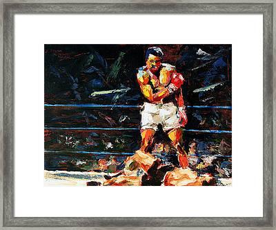 Muhammad Ali Framed Print by Derek Russell