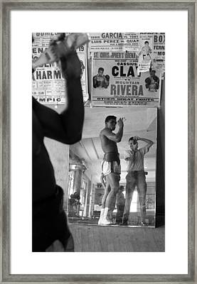 Muhammad Ali Drinking  Framed Print by Retro Images Archive