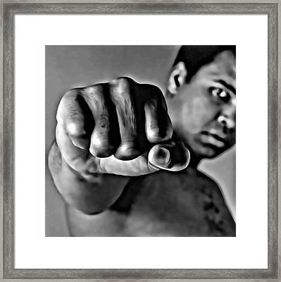 Muhammad Ali Fist Framed Print by Florian Rodarte