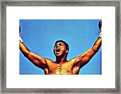 Muhammad Ali Framed Print by Florian Rodarte