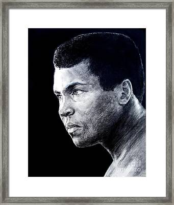 Muhammad Ali Formerly Known As Cassius Clay IIi Framed Print by Jim Fitzpatrick