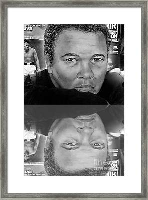 Muhammad Ali Formerly Known As Cassius Clay Version II With Reflection Framed Print by Jim Fitzpatrick