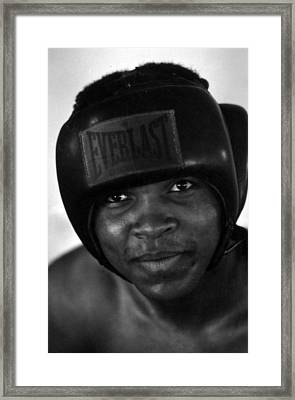 Muhammad Ali Grinning Framed Print by Retro Images Archive