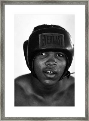 Muhammad Ali Headshot  Framed Print by Retro Images Archive