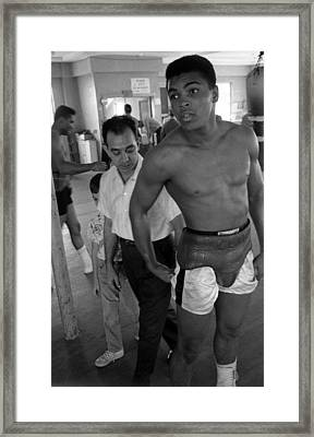 Muhammad Ali Leaning Framed Print by Retro Images Archive