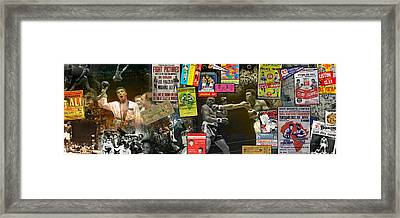 Muhammad Ali Panoramic Framed Print by Retro Images Archive