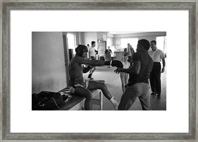 Muhammad Ali Playing Around Framed Print