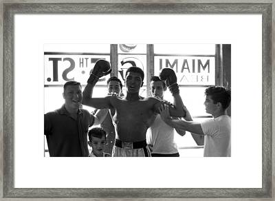 Muhammad Ali Raising Arms Framed Print by Retro Images Archive