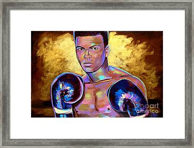 Framed Print featuring the painting Muhammad Ali by Robert Phelps