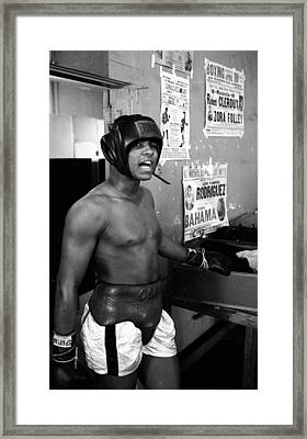 Muhammad Ali Speaking Framed Print by Retro Images Archive