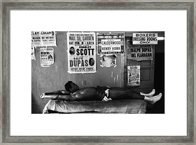 Muhammad Ali Stretching Framed Print