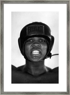 Muhammad Ali Teeth Gritted Framed Print by Retro Images Archive