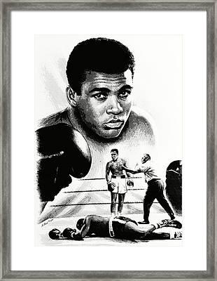 Muhammad Ali The Greatest Framed Print