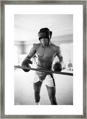 Muhammad Ali Training Inside Ring Framed Print by Retro Images Archive