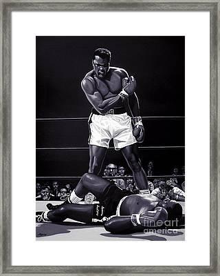 Muhammad Ali Versus Sonny Liston Framed Print by Meijering Manupix