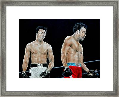 Muhammad Ali Vs George Foreman Framed Print by Jim Fitzpatrick