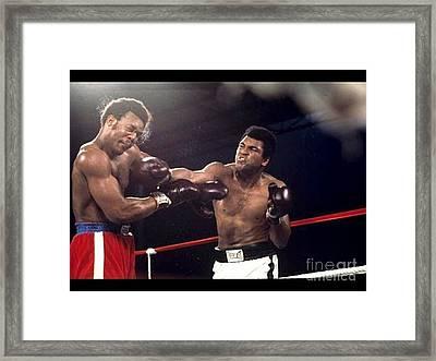 Muhammad Ali Vs George Forman Heavyweight Championship Fight Framed Print