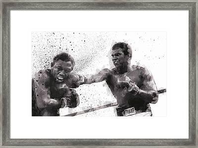Muhammad Ali Vs Joe Frazier Framed Print by Daniel Hagerman