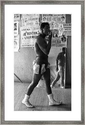 Muhammad Ali Walking In Gym Framed Print by Retro Images Archive