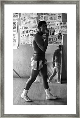 Muhammad Ali Walking In Gym Framed Print