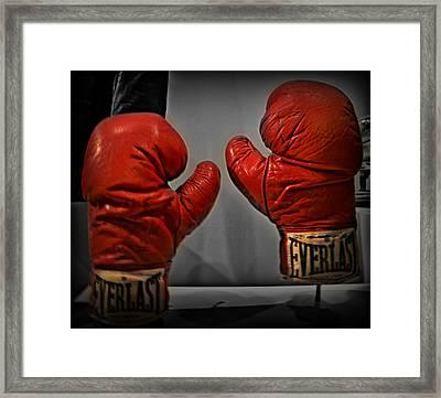 Muhammad Ali's Boxing Gloves Framed Print