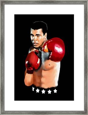 Muhammed Ali Framed Print by Jann Paxton