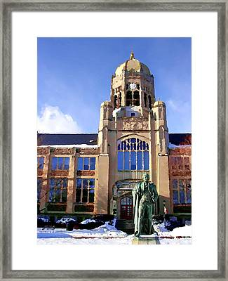 Abstract - Haas Center Framed Print