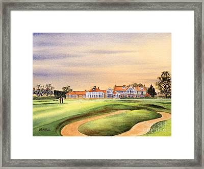 Muirfield Golf Course 18th Green Framed Print by Bill Holkham
