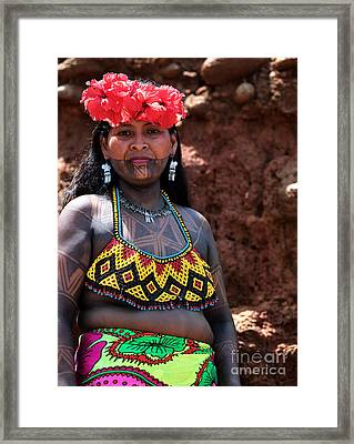 Mujer Embera Framed Print by John Rizzuto