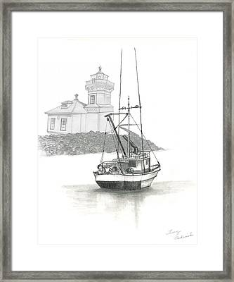 Mukilteo Lighthouse Framed Print