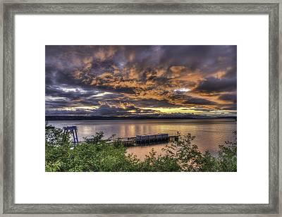 Mukilteo Sunset Framed Print