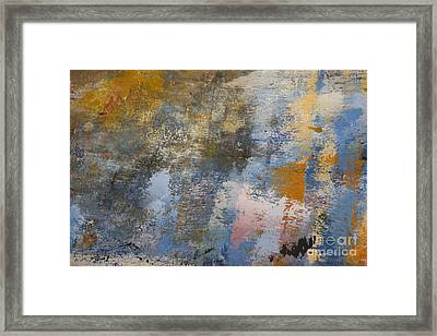 Mulberry On Concrete Framed Print by Nola Lee Kelsey