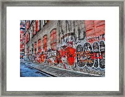 Mulberry Street Graffiti Framed Print
