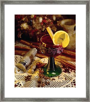 Mullen Wine Framed Print by Iris Richardson