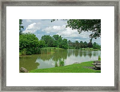 Muller Chapel Pond Ithaca College Framed Print