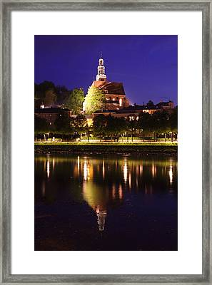 Mullner Kirche Church Reflecting Framed Print by Panoramic Images