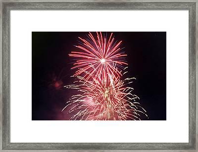 4th Of July Fireworks 1 Framed Print by Howard Tenke