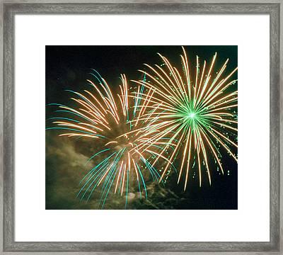 4th Of July Fireworks 2 Framed Print by Howard Tenke