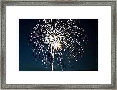 West Virginia Day Fireworks 4 Framed Print